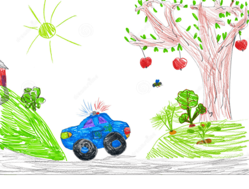 police-car-nature-child-drawing-37504628