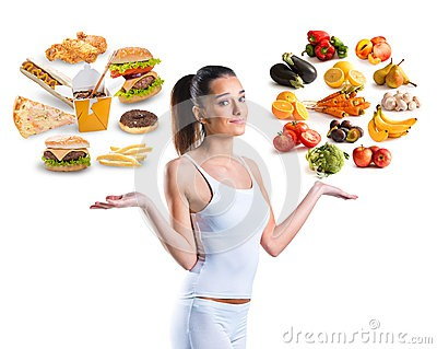 unhealthy-vs-healthy-food-over-white-background-51670184
